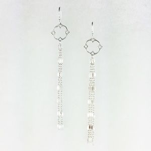NEW Handcrafted Sterling Silver Charm Earrings O/S